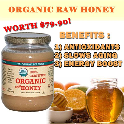 ORGANIC RAW HONEY Worth $79.90!  [100% AUTHENTIC] ANTI-AGING ANTI-OXIDATION 【★XMAS OFFER $24.90 (UP $29.90)★】
