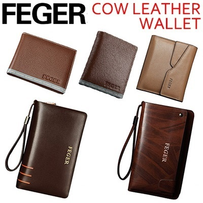 【Feger】Good quality and genuine leather men bag/ short style and casual business bag /fashionable and multi-founctional wallet/ DH1302003