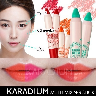 [Mixing multi-stick]Tint + Lip gloss + Lipstick + Eye shadow + Blusher + Lip balm at once!