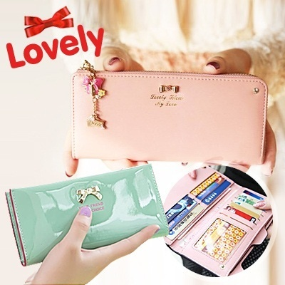 Special Price! ▶KQUEEN STAR WALLET◀GBC-Stylish KQUEEN STAR 'Your Friend Your Choice' Ribbon Rivet Wallet