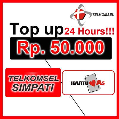 [ PULSA TELKOMSEL Rp 50.000 ] ISI PULSA INSTAN CEPAT DAN MUDAH 24 JAM READY!!!!