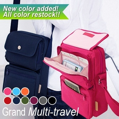 2 BUY FREESHIPPING! Travel Voyaging Bag Multi Pocket Messenger bag /passport/shoulder/travel/bags/luggage