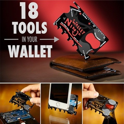★HOT SELL IN THE WORLD★Wallet Ninja Multi-Tool Card[100% Authentic from USA!!!]