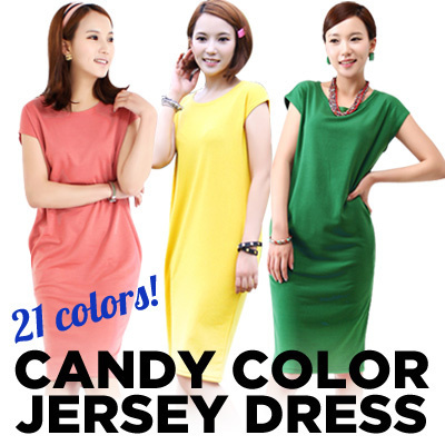ALL NEW SEASON★BEST SELLING 21 CANDY COLOR SUMMER MONO JERSEY DRESS★bodycon dress/maternity