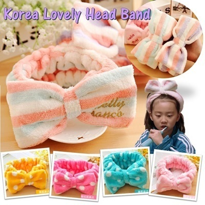 [Buy 3 Free Shipping] Korea Lovely Hairband~Further deduction for Hairband Polka Yellow,Limited Stock!!!