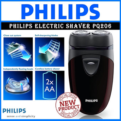 [NEW PRODUK]Philips Electric shaver PQ206/18 Battery powered Convenient to carry