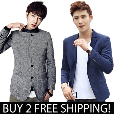 ◆Qxpress delivery◆Buy two Free Shipping◆Mens Formal Suit◆MENS clothes◆Mens Blazer◆Business Set Suit◆Fashion Cool Slim◆ALL new style