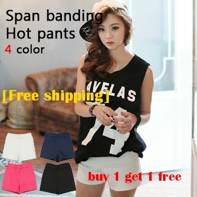 Buy1 Get1 Free★[Free Shipping]★10type /comfy shortpants[Made in Korea]BestSeller Pants LINEN/denim pants/comfy shortpants/hotpants/color pants