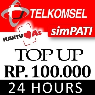 [ PULSA TELKOMSEL Rp 100.000 ] ISI PULSA INSTAN CEPAT DAN MUDAH 24 JAM READY!!!!