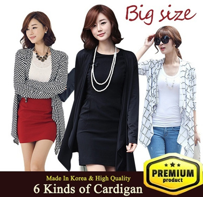 [Flat Price] 2014 NEW Style 6 kinds Cardigan/Big Size Cardigan★Made in KOREA★6 kinds Cardigan/ Cool fabric /pluls size / High Quality / autumn wear/ jacket /Stylementor