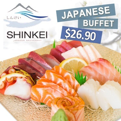 [FINAL OFFER] Only $26.90 NETT for A La Carte Japanese Lunch/Dinner Buffet by Shinkei Japanese Restaurant.Located at Toa Payoh Town Centre.*Kids below 5 dine for free