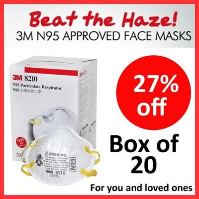 [Genuine 3M Brand] 3M N95 Approved Face Masks - Beat the Haze [N95 certified]