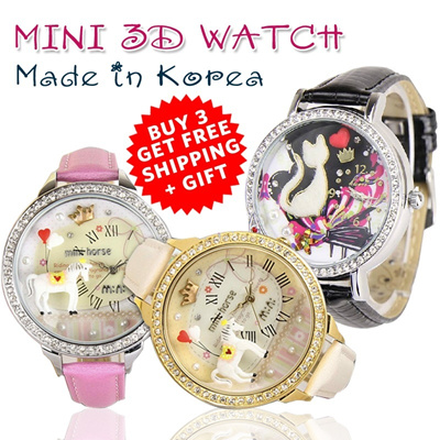 PROMO!!!BUY 3 FREE SHIPPING [3D Mini Watch] Fashion trend watches from Korea_Made in Korea_130model