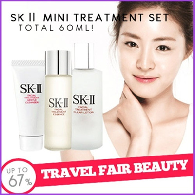 SK-II mini treatment set* 100% Original*30ml+20ml+10ml[Clear lotion+Cleanser+Treatment Essence]Ready Stock Jakarta