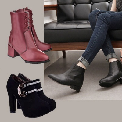 ★2014 NEW Autumn shoes/autumn boots/Women bootsmiddel boots/ankle boots