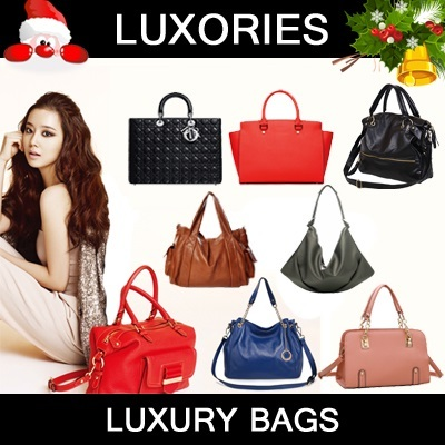 ★ Ladies Luxury Bags ★ Handbags Tote Leather Shoulder Leather Clutch Travel Pouch Women Premium Crossbody Messenger Satchel Fashion Christmas Gift Quality