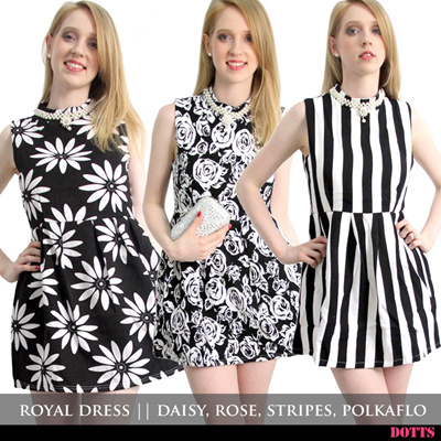 NEW NEW NEW! Royal Dress in 4 different prints / Dress like a queen / Cocktail / Elegant / Fabulous / Stylish / Pretty / Chic / Queen