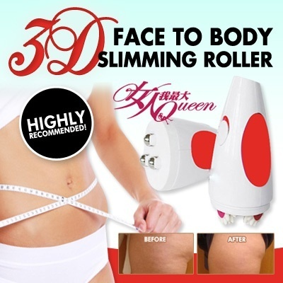 3D Face to body slimming Roller massage /Rotating Anti-cellulite control/  firming roller/ highly recommended by 女人我最大Body Massager ☆Body Slimmer Health/IZEN/DIET/SLIMMING/ BENICE/