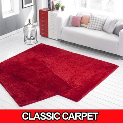 [BLMG_SG] Classic Microfiber Long Pile Rectangle Carpet★Made in Korea/100*150/150*200/Rug/Mat/Living Room Carpet