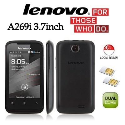 [Lenovo] Lenovo A269i 3.7inch New Released Dual Core !!! Comes with 6months Local Warranty !!!