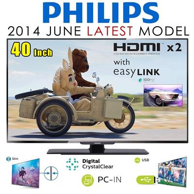 *New Model* Philips 32in/40in/50in LED with TVDVB-T/T2 -3 YEAR WARRANTY
