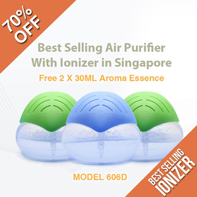 [70% OFF] ** Water Air Purifier with Ionizer and Blue LED Light**Aromatherapy Best Seller in Singapore /haze/dengue