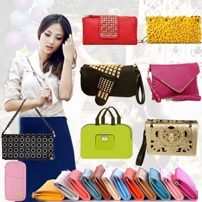 2013 New Trendy Travel bag Organizer Inner Bag in Bag Organiser/Leather Envelope bag / package bag/