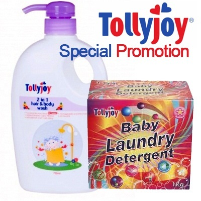 Tollyjoy Hair body wash/baby powder/baby lotion/baby Laundry