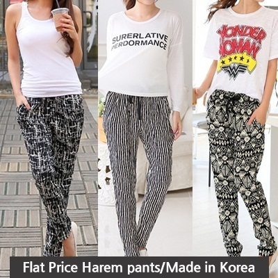 ★[Price Going Up Soon!] Get 10% OFF for Every $10 Purchase★ [Flat Price] 7type harem pants/loose pants/ Made in Korea[free shipping]