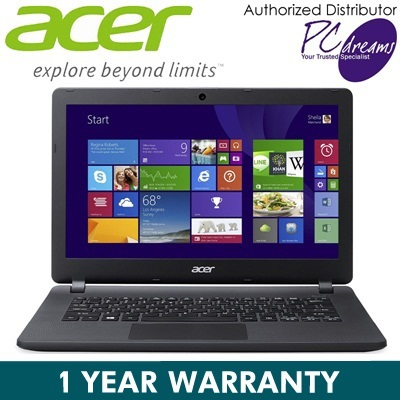 Brand New ACER ASPIRE ES1-111-C3NT Original Windows 8.1 Dual Core Light weight Laptop (Black) SAY NO TO PIRACY!
