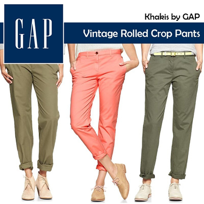 [GAP EVENT!!!] Buy Roll Crop Pants*Utility Jacket free camisol 100% Authentic Item *