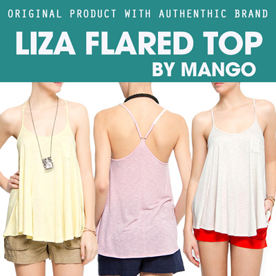 LIZA FLARED TOP BY MANGO [ORIGINAL PRODUCT WITH AUTHENTHIC BRAND]