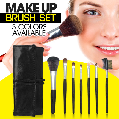 MAKEUP BRUSH SET 7PCS M★C-WITH BAG★MUST HAVE★