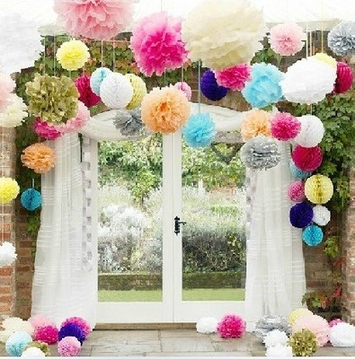 816701da93f Wedding Paper Flower Tissue Ball.ROM.Birthday Party.Bridal Shower.Proposal.Pompom  DIY Decorations.Party Room Home Deco. Baby Moon Decor.Dessert Candy Table