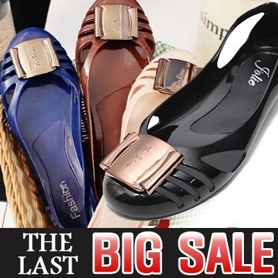 ★New arrivals★ Aug Sale Special price Last Chance ★Best Jelly Shoes Special★ Sweet Mini Wedge jelly flat shoes Jelly Shoes European-style Womens Shoes Fashion shoes
