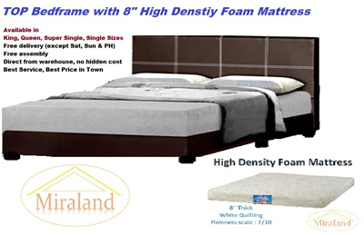 Promotion : Bed frame with Foam Mattress bed set