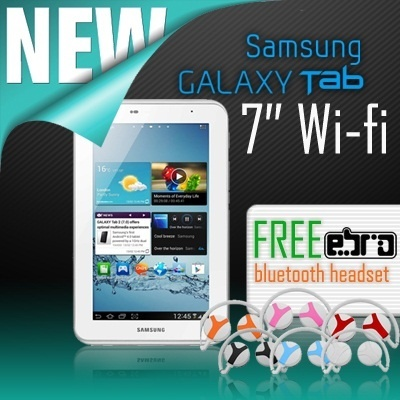 Galaxy Tab 2 - 7.0 inc Wifi Free Ebro Bluetooth Headset