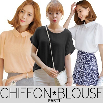 KOREAN STYLE ★ LOVELY CHIFFON Blouse Part1 / Design by Korea / Made in China / Premium Chiffon Material