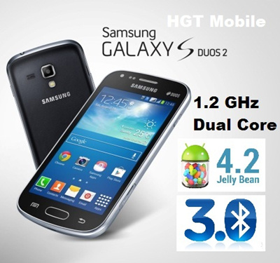 Best Price* Dual SIM Samsung Galaxy S Duos 2/ Black and White Available!Dual Core 3G Smartphone