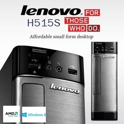 [Lenovo] H515s Budget Friendly Ultra Small Form Desktop CPU Tower- 1 Year Warranty