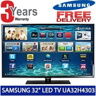 SAMSUNG 32in Smart LED TV with DVB-T2 (UA32H4303) - 3 years samsung warranty