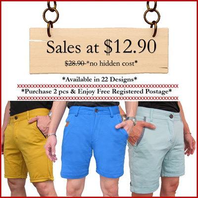 Sales: Casual Knitted and Tampered Series shorts are all going off at $12.90! Stretchable and Comfortable slim fit Bermudas that offers you flawless fit (22 Designs)