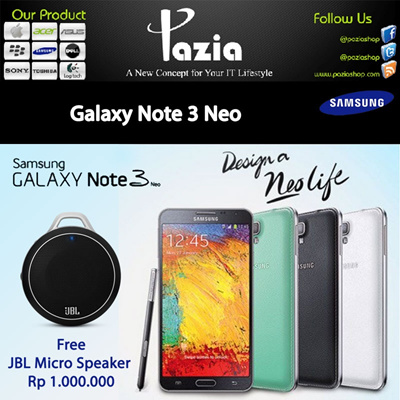 Galaxy Note 3 Neo-JBL Micro Speaker Rp 1.000.000-(Garansi resmi samsung (SEIN )1 tahun)-Android OS v4.3 (Jelly Bean)-5.5 inches