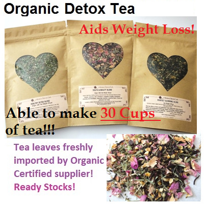 Organic Detox Tea 60g Makes 30 CUPS![Freshly Imported Europe Organic Tea Leaves] Popular! For Detoxification Cleansing and Well being~
