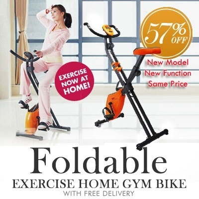 Bicycle Exercise Gym bike Bicycle (foldable) New arrival X1 enhance same price with free delivery free setup!