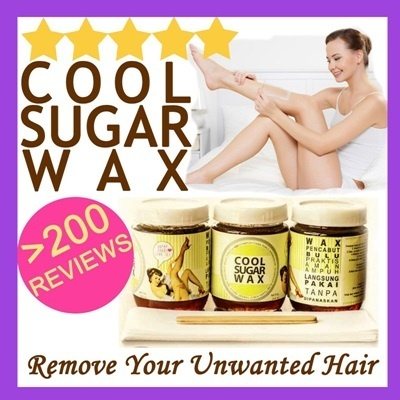 COOL SUGAR WAX 100% NATURAL AND SAFE*Cabut Bulu dengan mudah*Fast Shipping