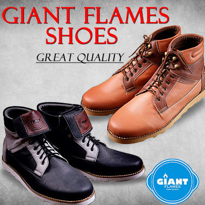 (FREE SANDAL) ★ GIANT FLAMES SHOES ★ Sepatu Boots and Wallabee Shoes for HIM ★ 25 Styles ★ LOCAL BRAND ★ Great Quality ★