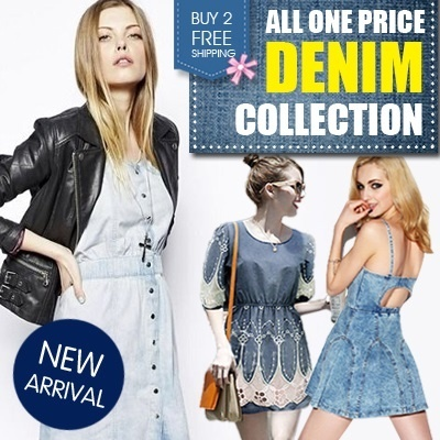 [Flat price] 2014 NEW ARRIVAL Denim Dress - Comes in 7 Sizes women fashion women fashion
