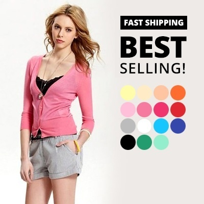 LOCAL IN STOCK SUPER FAST SHIPPING - 3/4 SLEEVE CARDIGAN IN 14 COLOURS