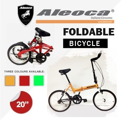 "[Aleoca]AB2001-SP13 20"" Folding Bike Single-Speed Folding bike - 3 Colours Foldable Bicycle"